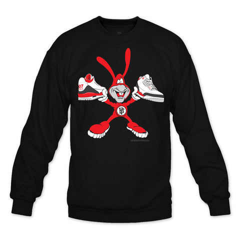 No Avoiding Black/Red Crewneck