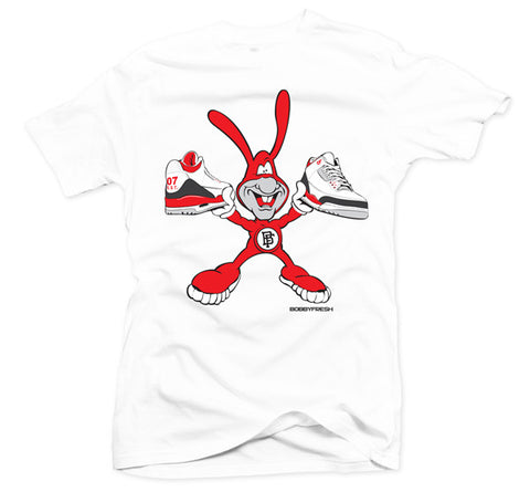 No Avoiding White/Red Tee