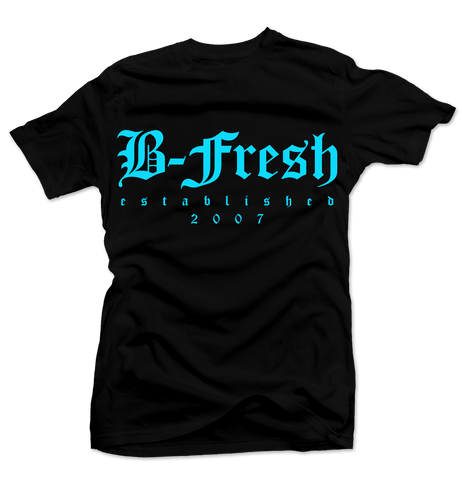 Old English Black/Blue Tee
