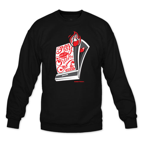 Quick Strike Black/Red Crewneck
