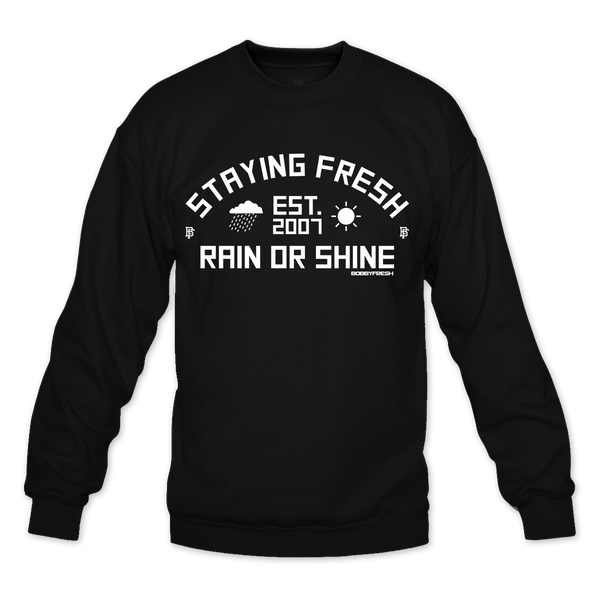 Rain or Shine Black Crewneck