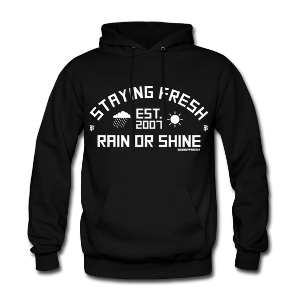 Rain or Shine Black/White Hoodie