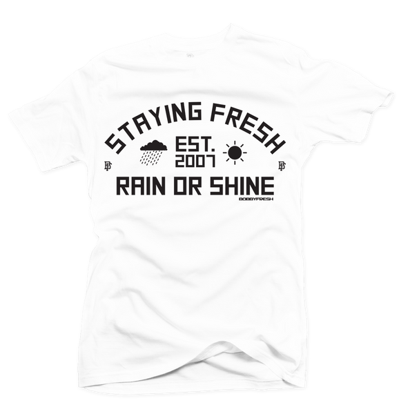 Rain or Shine White Tee