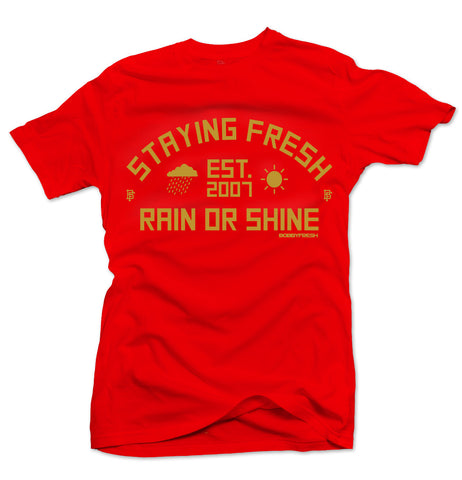 Rain Or Shine Red/Gold Tee