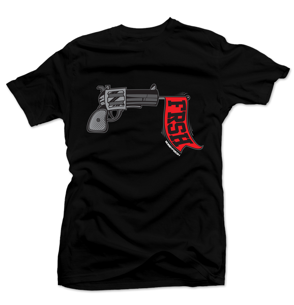 Ready Set Fresh Black/Red Tee - Bobby Fresh