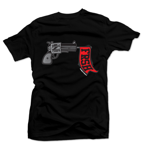Ready Set Fresh Black/Red Tee