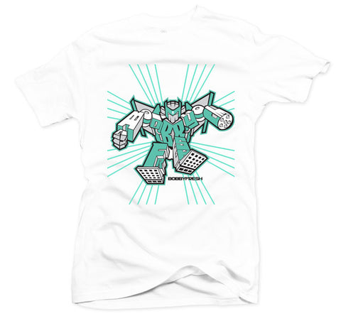 Roll Out White/Mint Tee