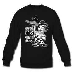 Served Fresh Daily Black/Grey Crewneck