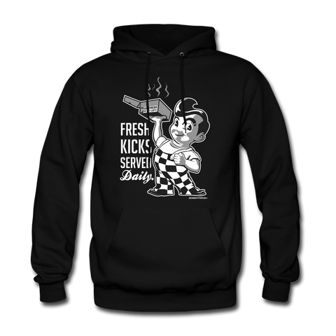 Served Fresh Daily Black/Grey Hoodie
