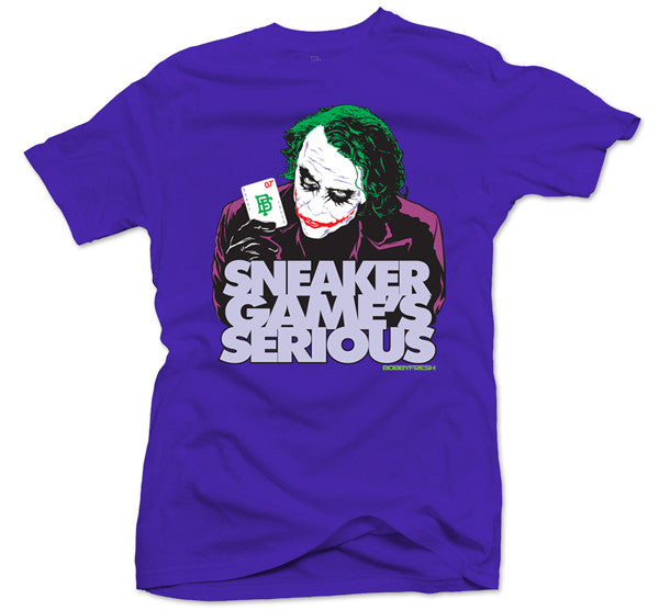 Sneaker Game's Serious Purple Tee