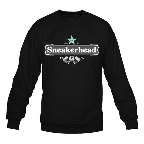 Sneakerhead II Black/Green Crewneck