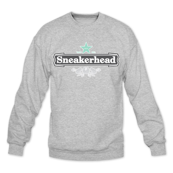 Sneakerhead II Heather Grey/Green Crewneck