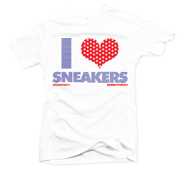 Bobby Fresh x SneakerTube I Love Sneakers Stars and Stripes Tee