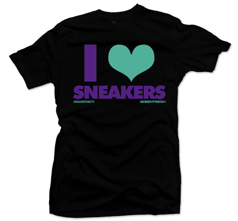 Bobby Fresh x SneakerTube I Love Sneakers Black/Purple Tee