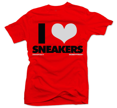 Bobby Fresh x SneakerTube I Love Sneakers Red/Black Tee