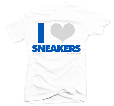 Bobby Fresh x SneakerTube I Love Sneakers White/Blue Tee