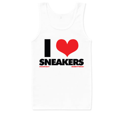 Bobby Fresh x SneakerTube I Love Sneakers White/Red Tanktop