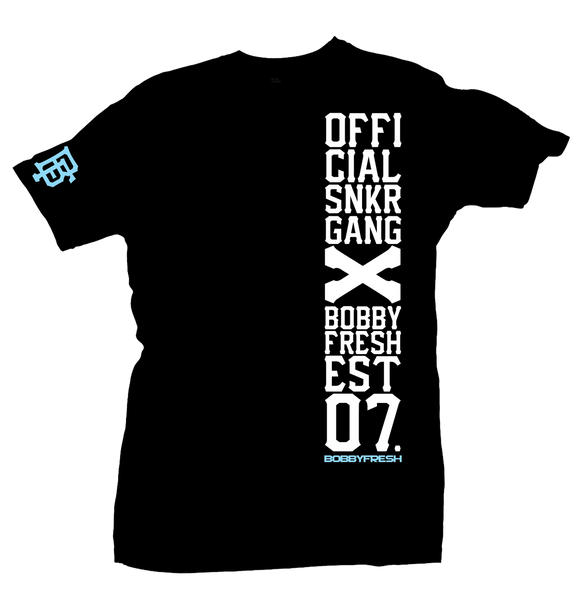 Snkr Gang Black/Powder Blue Tee - Preorder