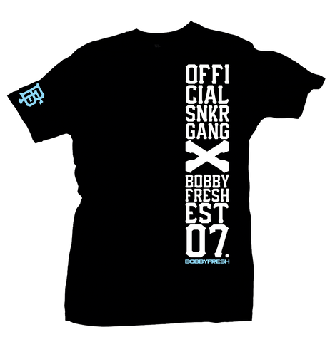 Snkr Gang Black/Powder Blue Tee