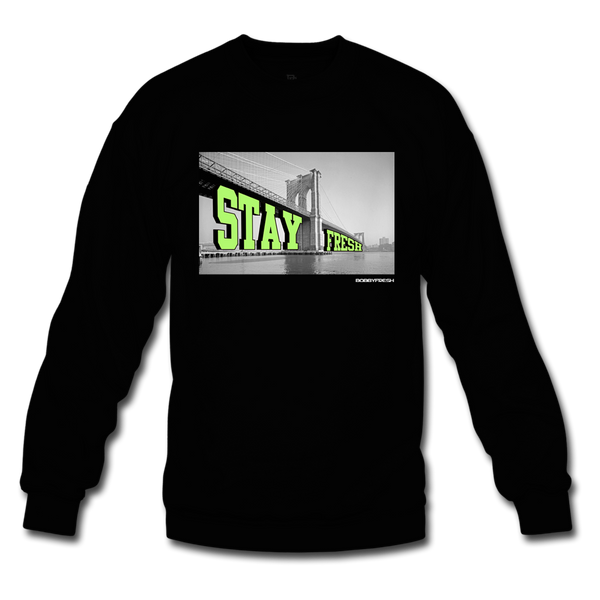 Bobby Fresh x DJ Clark Kent Stay Fresh Black/Volt Crewneck
