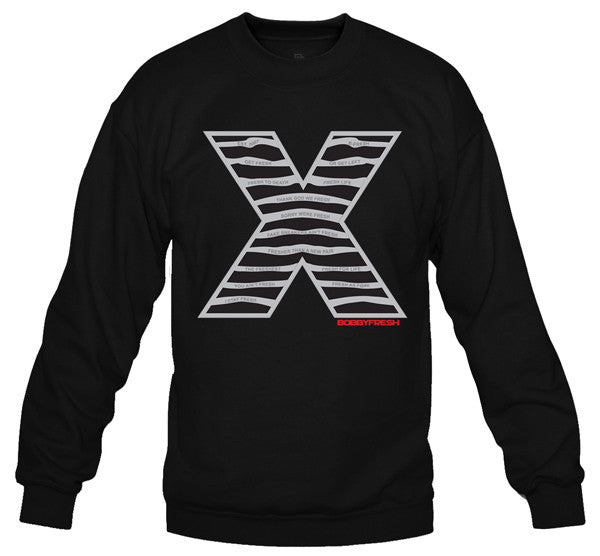 Steel X Black Crewneck