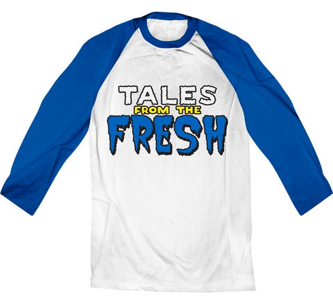 Tales From the Fresh White/Royal Blue Raglan Tee