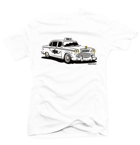 Taxi White/Gold Tee - Preorder