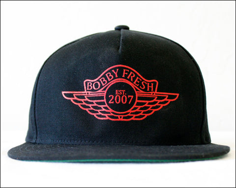 The Wings Black/Red Snapback