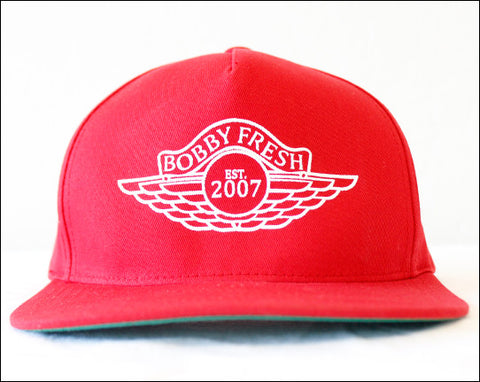 The Wings Red/White Stitched Snapback
