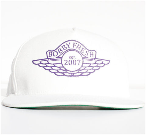 The Wings White/Purple Snapback