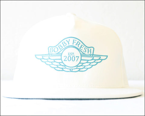 The Wings White/Teal Snapback