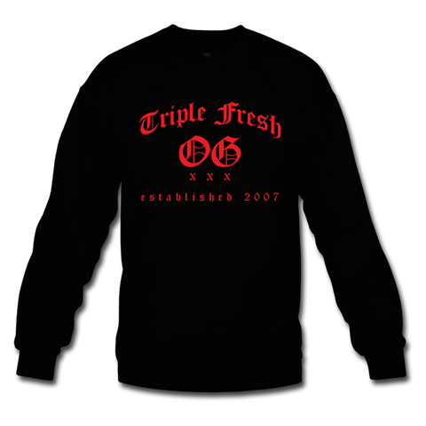 Triple Fresh OG Black/Red Crewneck