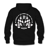 Victory Black/White Zip Up Hoodie