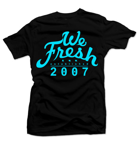 We Fresh Black/Blue Tee