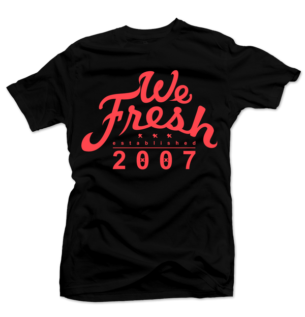 We Fresh Black/Infrared Tee - Bobby Fresh