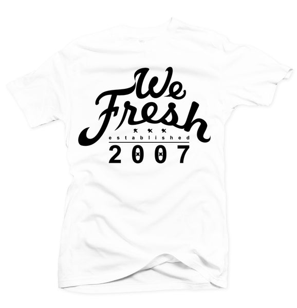 We Fresh White/Black Tee