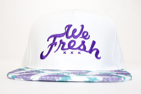 We Fresh White Strapback