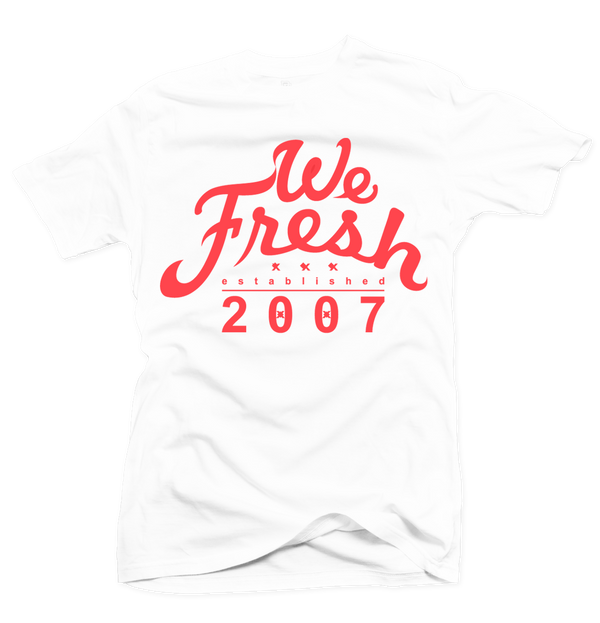 We Fresh White/Infrared Tee - Bobby Fresh