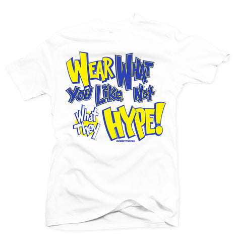 What You Like White/Yellow Tee