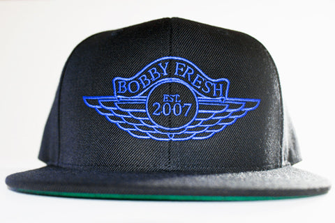 The Wings Black/Blue Snapback