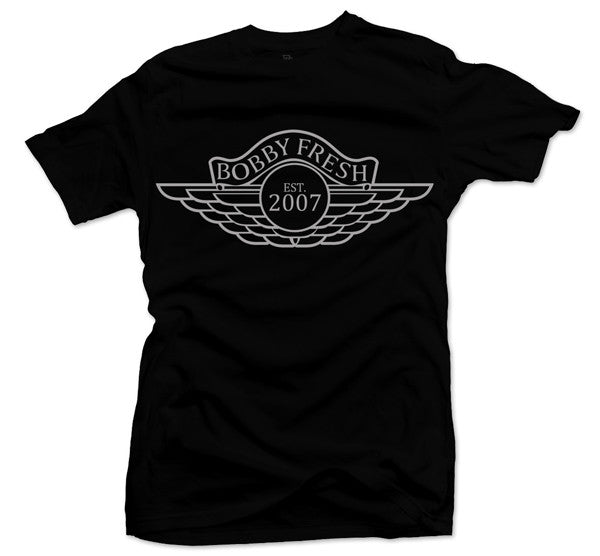 Wings Black/Silver Tee