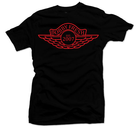 The Wings Black/Red Tee