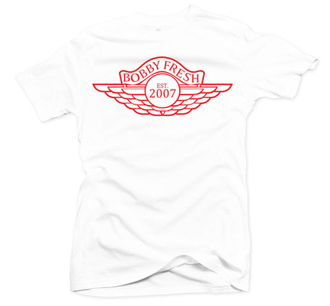 The Wings White/Red Tee