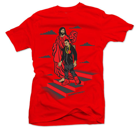 Yeezus Walks Red Tee