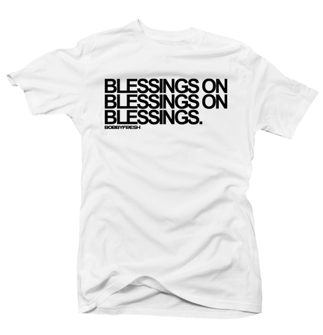Blessing on Blessings White Baron Tee