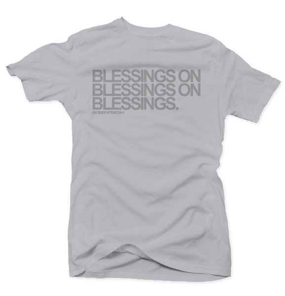 Blessings on Blessings Grey/Grey Tee