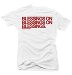 Blessings on Blessings White/Red Tee - Bobby Fresh