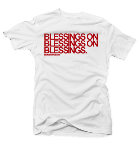 Blessings on Blessings White/Red Tee (OG 13's)