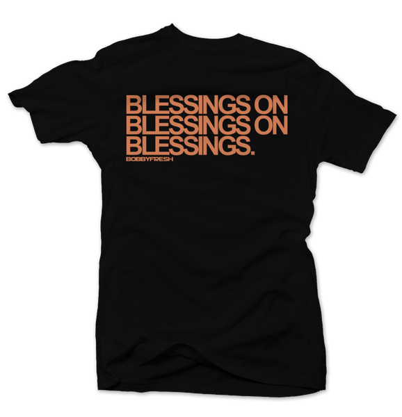 Blessings on Blessings Clay 350's Black  Tee