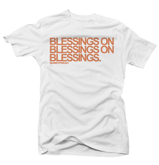 Blessings on Blessings Clay 350's White Tee
